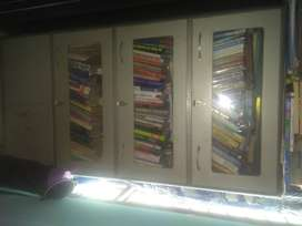 Steel bookshelf with glass window 5 year old
