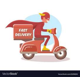 Hiring for food delivery boy // freshers , exp.
