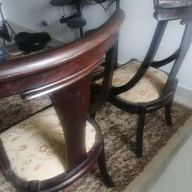 2 wooden chairs -high back