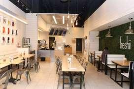 Semi furnished restaurant in Airport main road