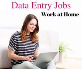 Data entry work simple typing work at home