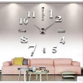 Taffware Jam Dinding Besar DIY Creative Design 80-130cm