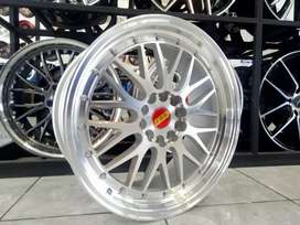 Velg Bbs LM ring 18x8/9 pcd 10x114.3/120 buat bmw civic accord dll
