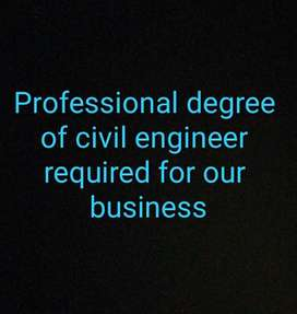 Civil Engineer Degree required for Construction company .Ugently
