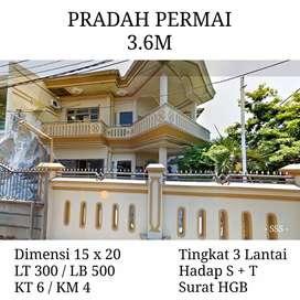 Dijual rumah pradah permai 3.6M