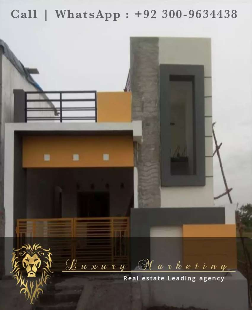 3 Marla Single story house ideal location 50% payment per Qabza hasil 0