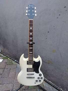 Gitar scorpion sg series white vintage original