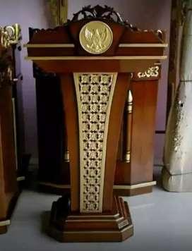 mimbar masjid bahan jati solid