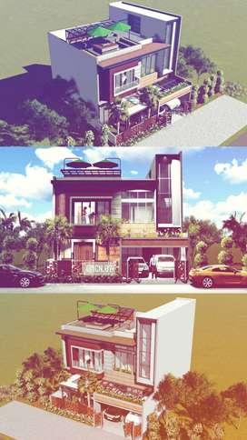 Jasa Desain Bangunan Baru atau Desain Renovasi Bangunan lama