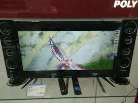 """NEW Spk Tower Model LED TV 32"""" Polytron Cinemax 2Subwoofer + 6 Speaker"""