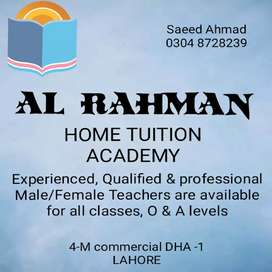 AL RAHMAN HOME TUTORS