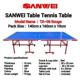Meja Pingpong Tenis Meja SANWEI TA-06 Rouge