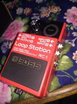 Boss rc 1 loop pedal or guitar and singing you can make infinite loop