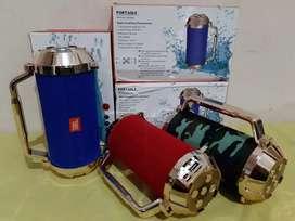 Speaker jbl portabel bluetooth gt-113 batre + fm + usb + Stereo baru