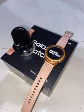 Dijual samsung  galaxy watch 42mm rose gold fullset