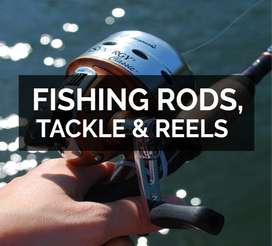 FULL RANGE OF FISHING RODS, FISHING REELS, FISHING LINES, FISHING LURE