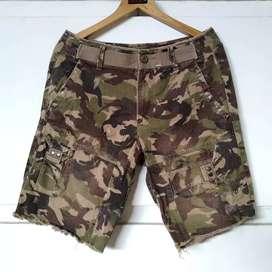 Armani Exchange Camo Printed Washed Short Pants Original
