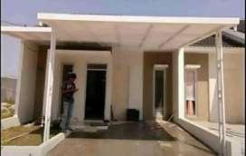 Kanopi kaca dan alderon atap rumah minimalis