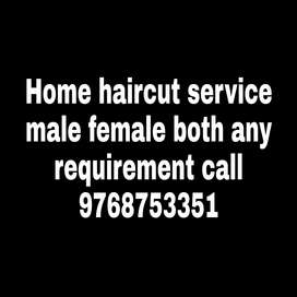 Male and female hair cut
