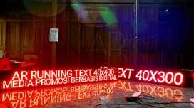 Lampu Running Text jelas Garansi 1 Tahun