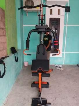 Home gym 1 sisi besi kuat ( harga grosir free ongkir + perakitan)