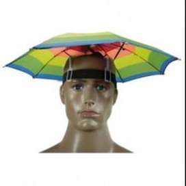 Topi Payung Umbrella Hat  - Multi-Color