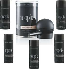 Toppik Hair Fibers ( Black ) 5-Pack With 1-Applicater Free