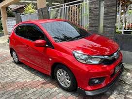 Brio Satya E CVT 2020 KM 1500 Merah Masih Baru Full Upgrade Matic