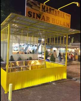 Booth container booth jualan dagang booth minuman crispy chicken