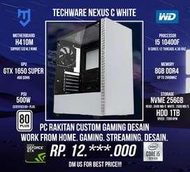 CPU Rakitan Intel For Gaming Desain I5 10400F GTX 1650 SUPER 4GB
