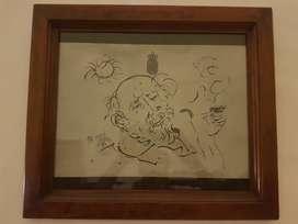 Jual lukisan Affandi on paper 1975