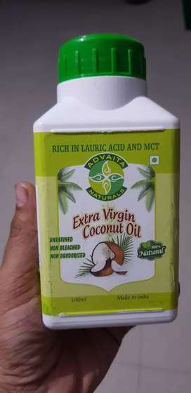 Coconut oil 100% pure without any chemical