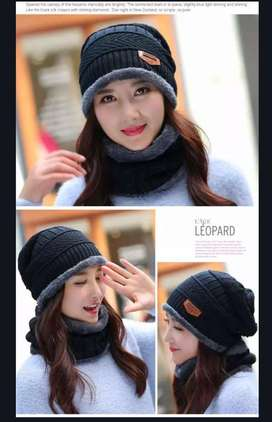 Woolen Cap and Neck Warmer
