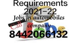 New job vacancy in automobile company