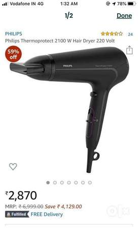 Hair dryer only 2000rs original