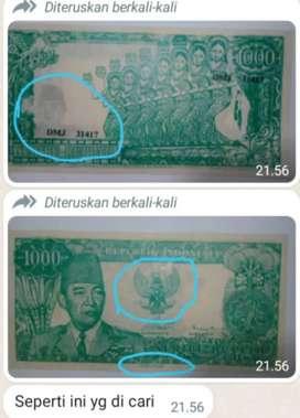 Uang Soekarno nominal 1000