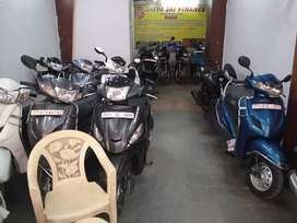 All types of Scooters and bikes available in excellent condition