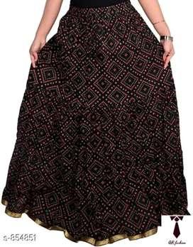 Stylish cotton women's long skirt