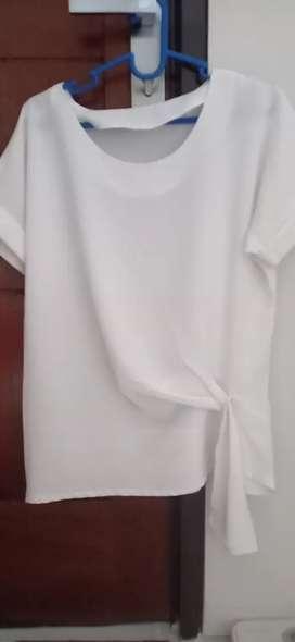 Blus / Atasan Wanita All Size (putih)