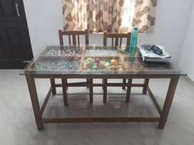 4 seater teak wood dining table for sale