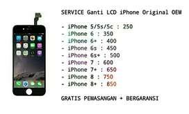 Ganti LCD iPhone Kualitas Original Garansi, GRATIS PASANG