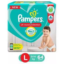 Pamper L size fresh
