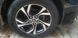 Alloy rims with tyers
