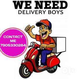 Rider Delivery Boy required for Lucknow