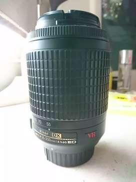 Dijual lensa dslr nikon 55-200 vr dx F 3.5