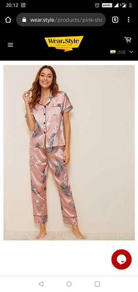 Night wear, pyjama sets, brand new, pink, trendy