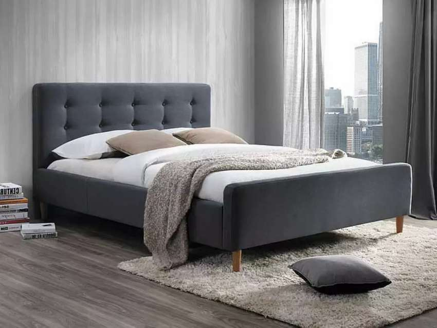 Simple design bed with side tables 0