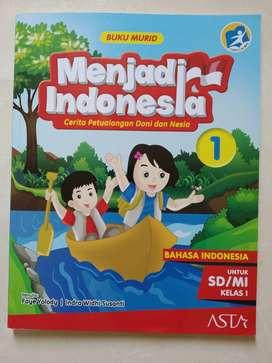 Buku Pelajaran Bahasa Indonesia : Menjadi Indonesia 1 (bekas)
