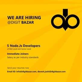 Node JS Developer (Immediate)