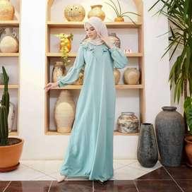 Dress santai warna mint
